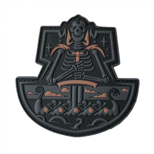 JTG Viking GhostShip Skull 3D PVC Patch - blackops