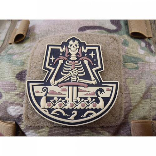 JTG Viking GhostShip Skull 3D PVC Patch - desert