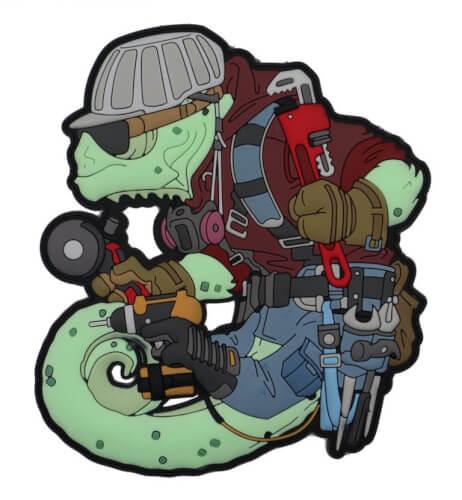 Chameleon Legion Handwerker Steeler Metaller Stahlbau Patch