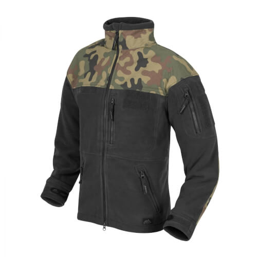 Helikon-Tex Infantry Jacke -Fleece- Schwarz / PL Woodland