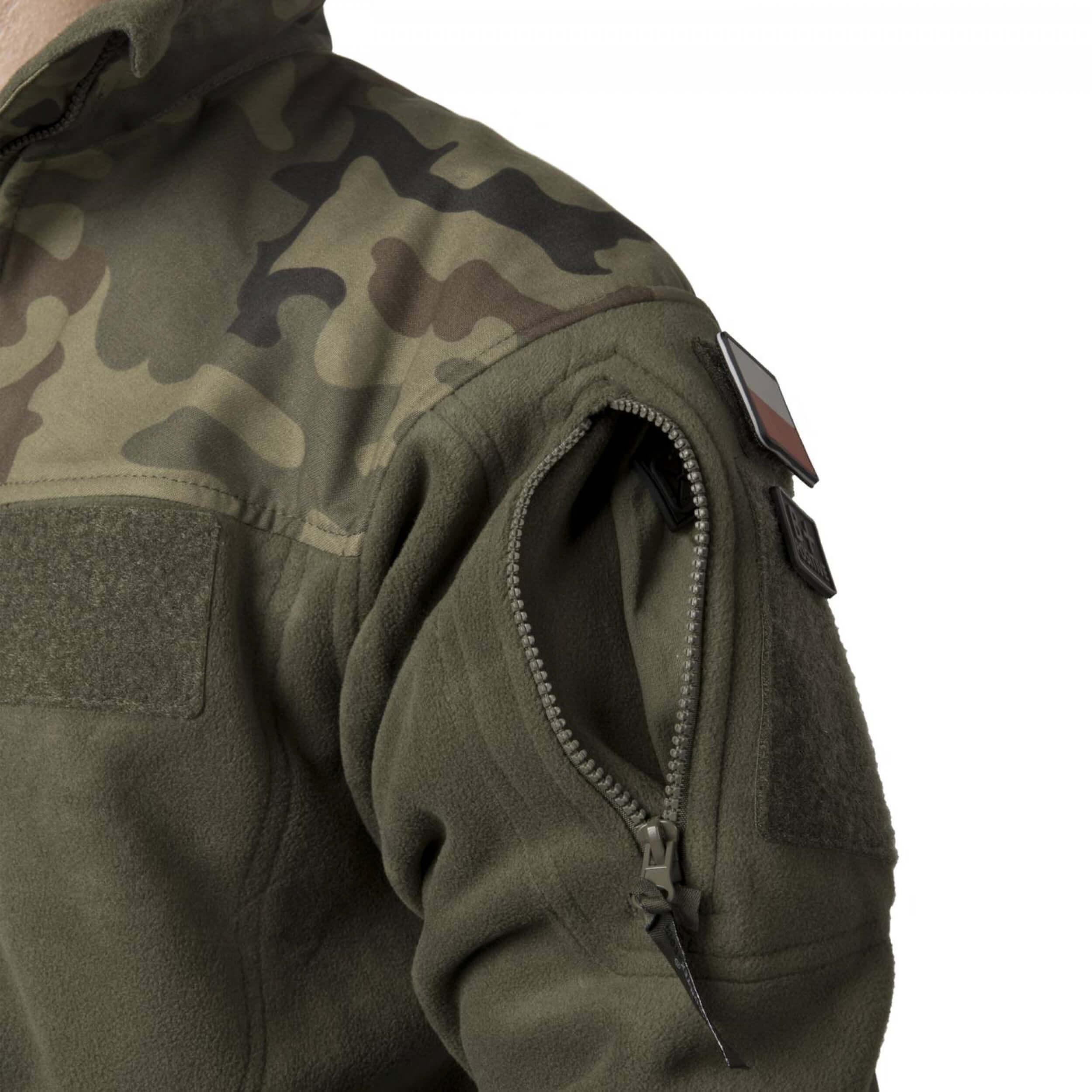 Helikon-Tex Infantry Jacke -Fleece- Schwarz / PL Woodland